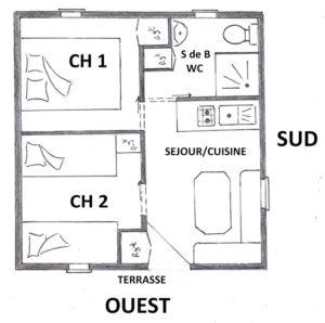 Plan du Chalet le Laroche